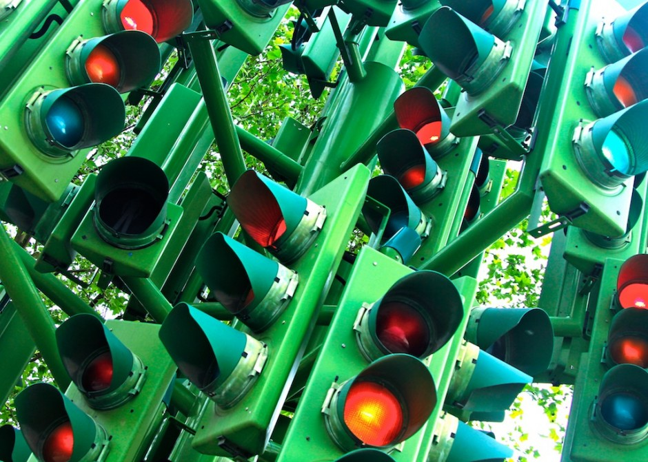 London traffic lights - t2i